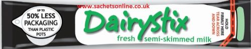 Dairystix - UHT semi skimmed milk - single portions sachets online (Dairy Sticks)